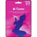 美國 $25 iTunes Gift Card 禮品卡